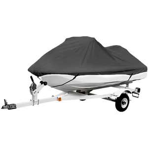"""North East Harbor Gray Trailerable PWC Personal Watercraft Cover Covers Fits 2-3 Seat Or 136""""-145"""" Length Compatible with Waverunner, Sea Doo, Jet Ski, Polaris, Yamaha, Kawasaki Covers"""