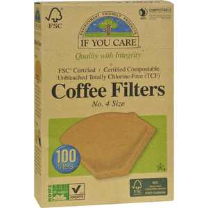 If You Care #4 Natural Brown Cone Coffee Filters, 100 Ct