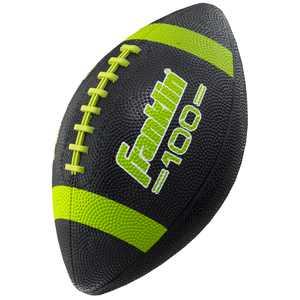 Franklin Sports Junior Size Rubber Football, Black