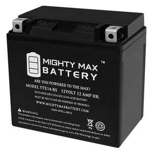YTX14-BS Replacement Battery for ATV YAMAHA YFM660R Raptor 660CC 01-'05
