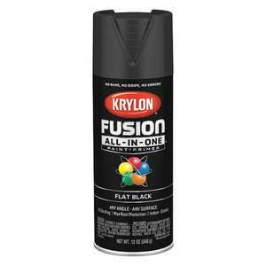 KRYLON K02728007 Rust Preventative Spray Paint, Black, Flat, 12 oz.