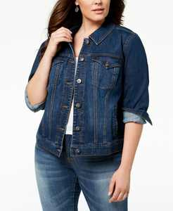Plus Size Denim Jacket, Created for Macy's