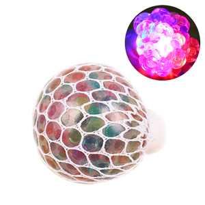 Uarter Mesh Squishy Ball Anti-stress Grape Balls Glowing Squeeze Toy Colorful Stress Relief Toys for People Aged over 15 Years