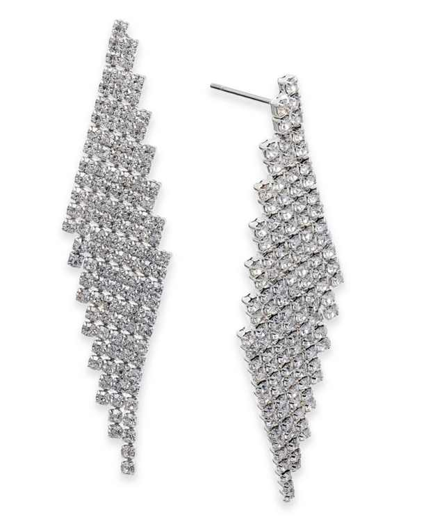 Angled Pavé Fringe Drop Earrings, Created for Macy's