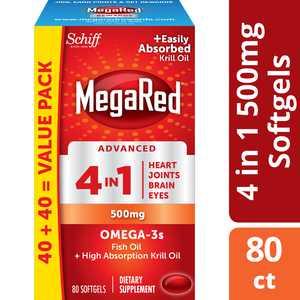 MegaRed Advanced 4in1 500mg, 80 Softgels