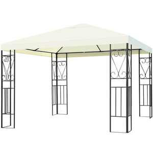 Costway 10'x10' Steel Frame Patio Gazebo Canopy Tent Shelter Patio Party Awning