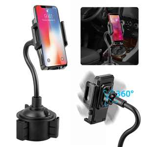 EEEkit Cell Phone Car Cup Holder, Universal 360 Adjustable Car Mount Gooseneck Cup Holder Compatible with iPhone 11/11 Pro X Xs Max XR 8 Plus 7 6 Samsung Galaxy S10 9 8 Note 9 8 Edge