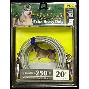 Boss Pet 171372063 Q5720-000-99 20 ft. Extra Large Dog Tie-Out Cable
