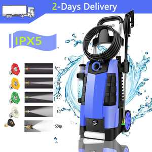 Upgrade 2100PSI Electric High Pressure Washer,1.9GPM Professional IPX5 Electric Cleaner Machine with 5 Adjustable Nozzles and Detergent Bottle, GFCI