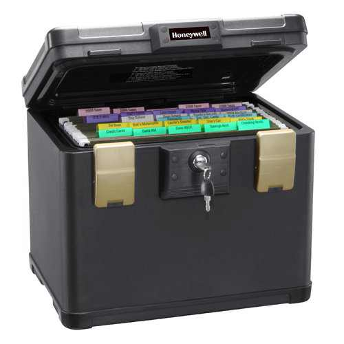 Honeywell, 1106, Waterproof 30-Minute Fire Chest with Key Lock (fits Letter and A4 Files), 0.6 cu. ft.