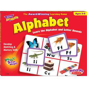 Trend, Tept58101, Match Me Alphabet Learning Game, 1 Each, Multi