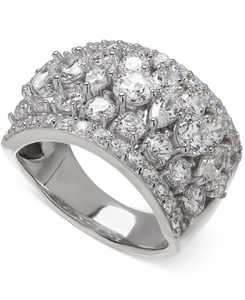 Cubic Zirconia Pave Ring in Sterling Silver