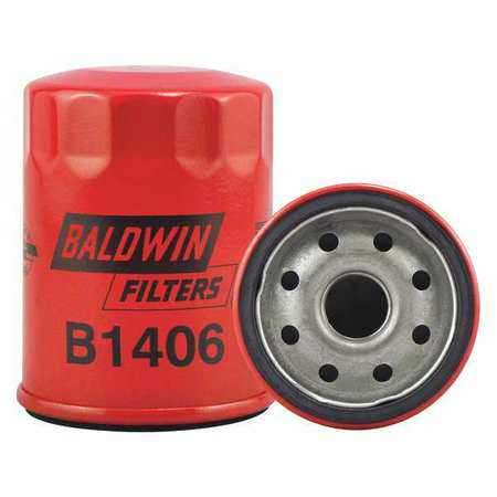 "BALDWIN FILTERS B1406 Oil Fltr,Spin-On,3-1/2""x2-11/16""x3-1/2"""