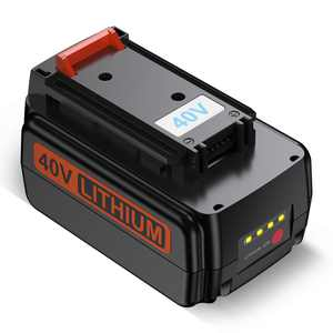 3000mAh 40V MAX Replacement Lithium-ion Battery for Black&Decker LBX2040 Power Tools Batteries