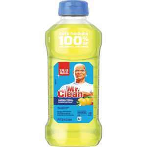 Mr. Clean Antibacterial Cleaner, Yellow, 1 Bottle (Quantity)