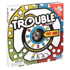 Trouble Game, Includes Coloring and Activity Sheet, Board Game for Kids Ages 5+