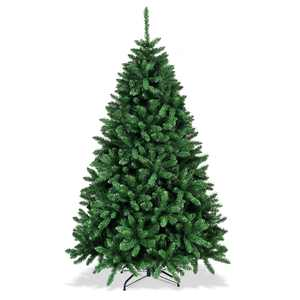 Costway 6ft Hinged Christmas Tree Douglas Full Fir Tree 1355 Tips