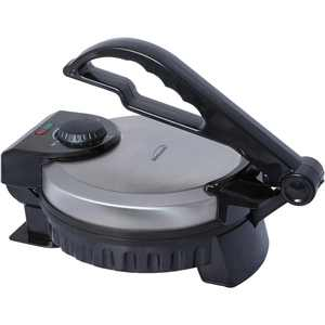 Brentwood Stainless Steel Non-Stick 8 inch Electric Tortilla Maker Contact Grill