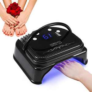 YLSHRF 64W Nail Polish Dryer, 32pcs LED Professional Gel Nail Lamp with Quick Curing UV Light Cordless Rechargeable Smart Sensor Manicure Tools