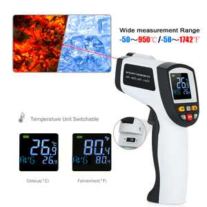 Non-contact IR Infrared Thermometer Digital Handheld Temperature Tester 12:1 Pyrometer Color LCD with Backlight -50950/-581742
