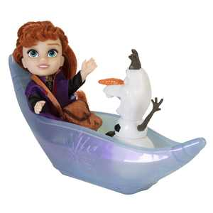 Disney Frozen 2 Petite Princess Anna and Ice Canoe Gift Set Includes Anna, Olaf! Dolls are approximately 6 inches tall Walmart Exclusive