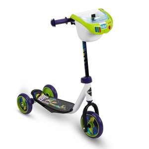 Huffy Toy Story Kids Toddler Preschool 3 Wheel Ride On Kick Scooter with Basket