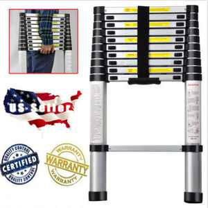 10.5ft EN131 Telescoping Step Ladder, Aluminum Telescopic Extension Multi Function Purpose Use Ladders, for Changing Light Bulb or Conduct Roof