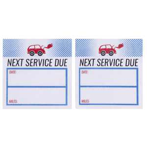 Oil Change Sticker - 500-Count Auto Service Reminder Sticker Roll, Next Service Due Sticker, Removable Vinyl Stickers for Cars, 2 x 2 inches