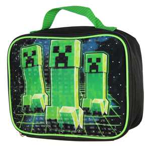 Minecraft Creeper Stalk Video Game Insulated Lunch Box Bag Tote