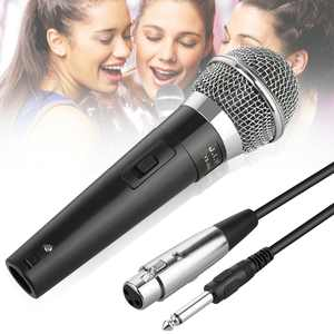Wired Dynamic Karaoke Microphones, EEEkit Professional Handheld Vocal Mic with 10ft 6.35mm XLR Audio Cable Compatible with Karaoke Machine/Speaker/Amp/Mixer for Singing, Speech, Wedding, Stage
