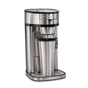 Hamilton Beach The Scoop Single-Serve Coffee Maker, 14 oz., Stainless Steel, Model 47550