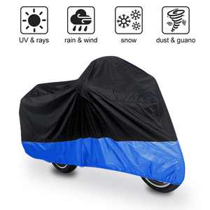 XXXL 180T Black Blue Motorcycle Cover for Goldwing 1100 1200 1500 1800