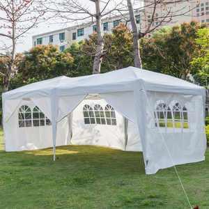 UBesGoo 10'x 20' Outdoor EZ Pop up Party Tent Wedding Gazebo Canopy 6 Walls