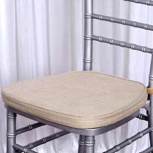 BalsaCircle Natural Burlap Chiavari Chair Cushion - Wedding Party Event Furniture Reception Dinner Catering Ceremony Decorations