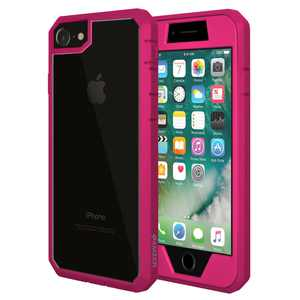 iPhone 7 Full Body ScratchProof Guard Case with Built-in Screen Protector Coverage - Pink