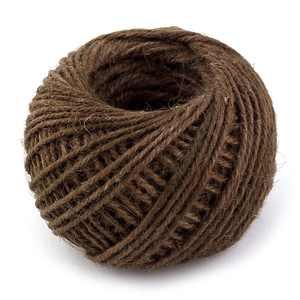 Jute Burlap Ribbon Twine Rope Cord String Roll Dark Brown 2mm Dia 50m Length