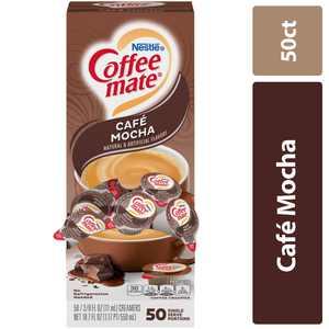 Coffee Mate Caf Mocha Coffee Creamer Singles, 0.375 Fl Oz, 50 Ct