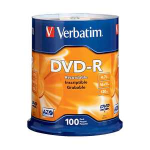AZO DVD-R 4.7GB 16X with Branded Surface (100pk Spindle)