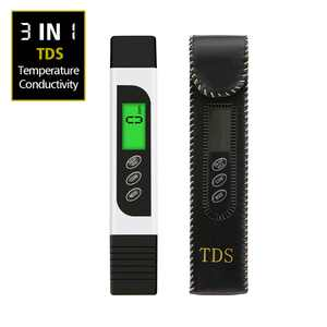 TDS Water Tester Meter Test Pen , 3 in 1 TDS, Temperature and Conductivity Meter with Carry Case, 0-9999ppm, Ideal ppm Meter for Drinking Water, Aquariums and More