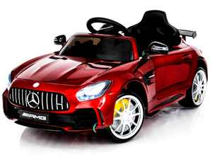 Electric Power Mercedes GTR Ride on Car for Kids with Remote Control, Opening Doors, LED Lights, MP3, Color: Red