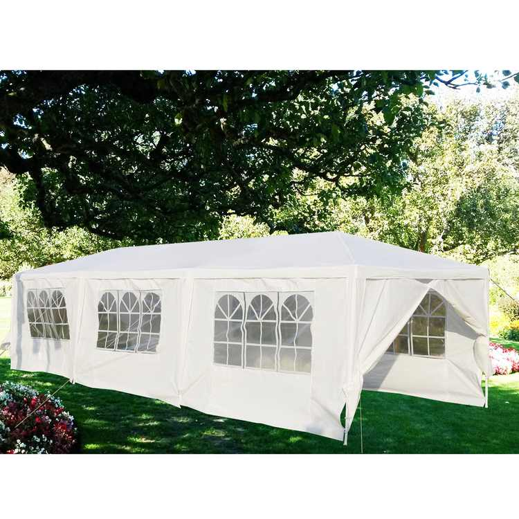 Gymax White Wedding Tent 10'x30'Outdoor Party Canopy Events