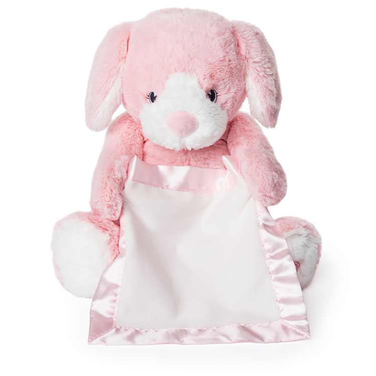 "Peek-a-Boo Furry Friends Animated Peek-a-Boo Puppy Plush, Pink, 10"""
