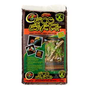 Zoo Med Eco Earth Loose Coconut Fiber Reptile Substrate, 8 Dry Qt