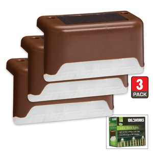 S/3 SOLAR DECK LIGHTS, Add Safety and Ambiance To Your Outdoor Living Area By IdeaWorks
