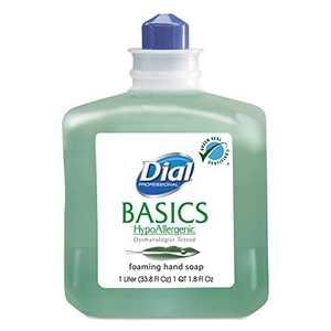Dial, DIA06060, Basics HypoAllergenic Foam Soap Refill, 1 Each, Green, 33.8 fl oz (1000 mL)