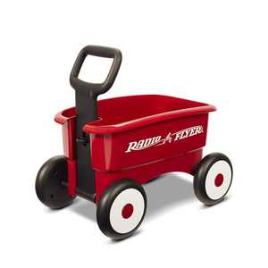 Radio Flyer My 1st 2-in-1 Wagon, Red, 2 wagons in 1 - the handle can be locked for a Walker wagon, or released for a pull wagon By RADIO FLYER radio flyer