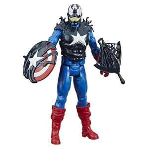 Spider-Man Maximum Venom Titan Hero Captain America