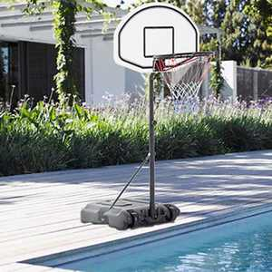 Zimtown 3ft - 4ft Height Adjustable Swimming Pool Basketball Hoop, Portable Basketball Goal Stand System with Wheels, Net, Backbord, for Swimming Poolside Great for Kids Youth Playing Water Games
