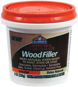 Elmer's Carpenter's Color Change Wood Filler, Natural, 8 oz