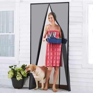 Magnetic Screen Door - Heavy Duty Mesh & Super Strong Velcro & Magnet Fits Doors
